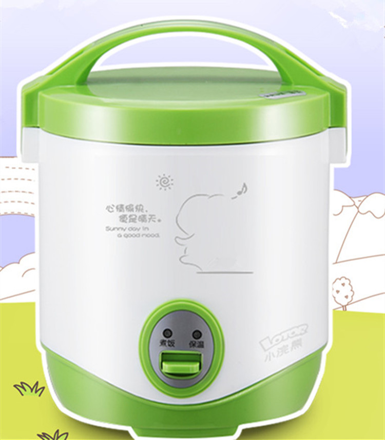 free shipping 200w power 1.0L capacity AC220-240V mini rice cooker lunch box suited for 1-2 people Stew pot рисоварка cooker lunch box capacity 875ml 125ml capacity plate