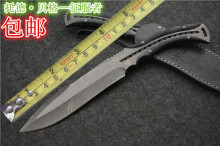 Outdoor Camping Hunting Knife High Hardness D2 Material Damascus Knives