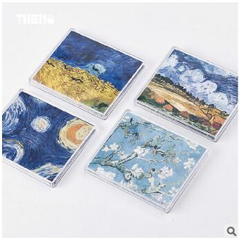 New Creative Fashion  Vincent Van Gogh Paper Wallets Waterproof Purse Foldable Bifold Wallet For Men Women Environmental Supply