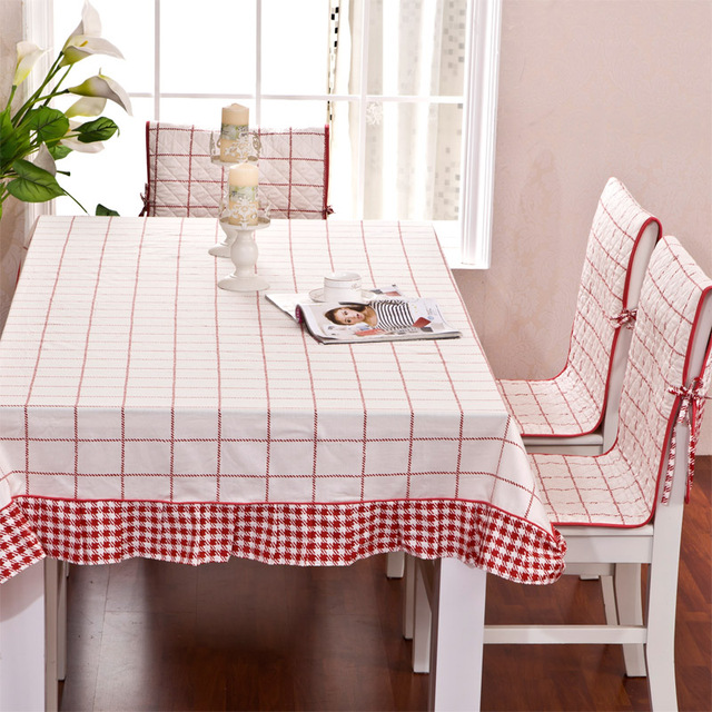 1fb2a2e1fa6 Hot sale Kitchen dining table cloth and chair cover set 100% cotton lace  tablecloth and two side use chair covers and cushions