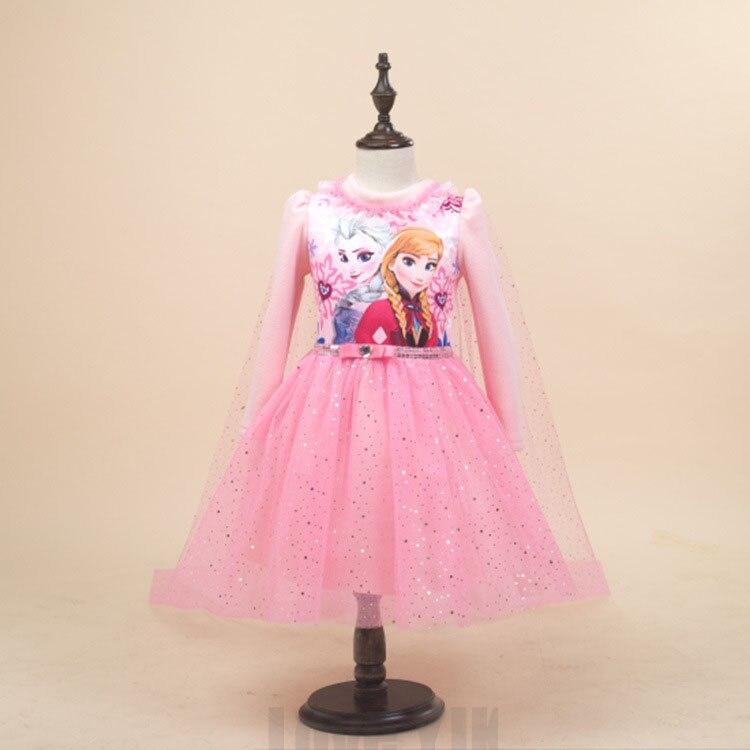 Новинка 2017 года высококачественный индивидуальный дизайн платье «Принцесса Анна» детские платья свадебная одежда «Принцесса Эльза» детск...