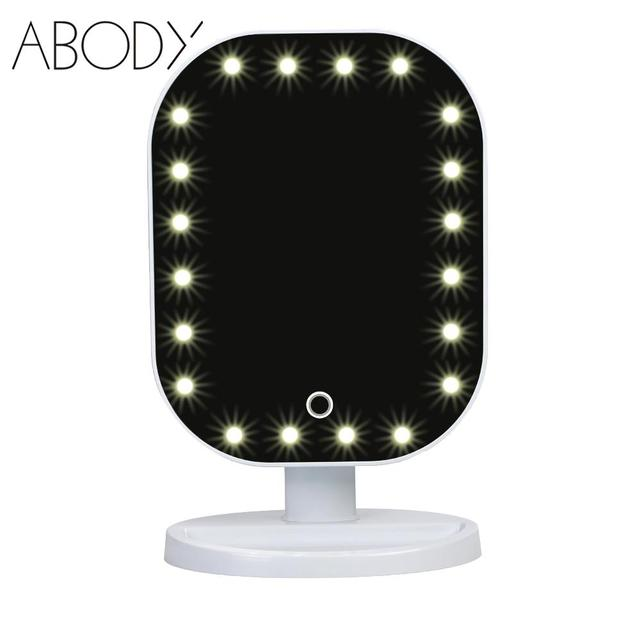 20 Led Light Beauty Makeup Mirror Fashion Rotatable Touch Screen
