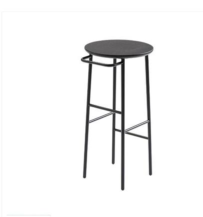 Nordic bar stool wrought iron solid wood European bar stool bar stool modern minimalist chair bar chair high stool
