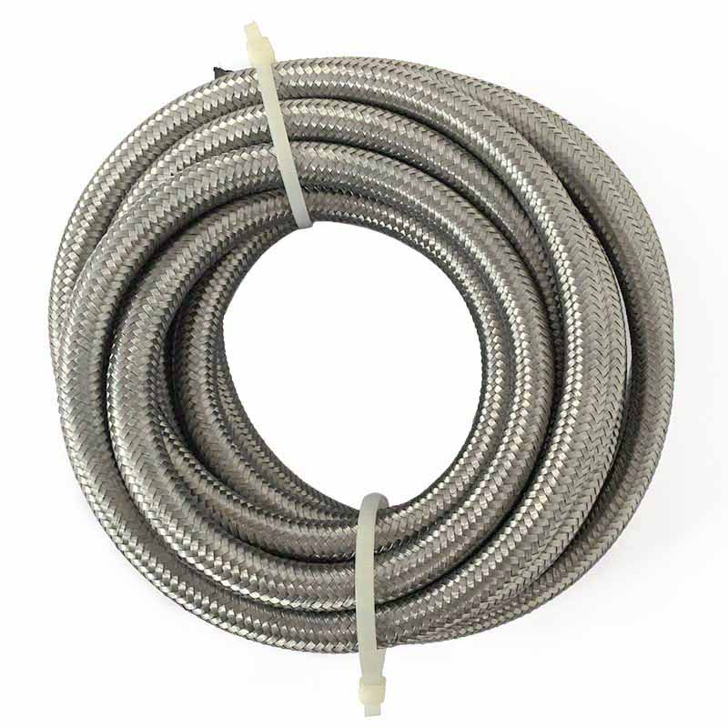 Universal Turbo Hose: AN 4 Stainless Steel Oil / Fuel Hose 5 Meter Double