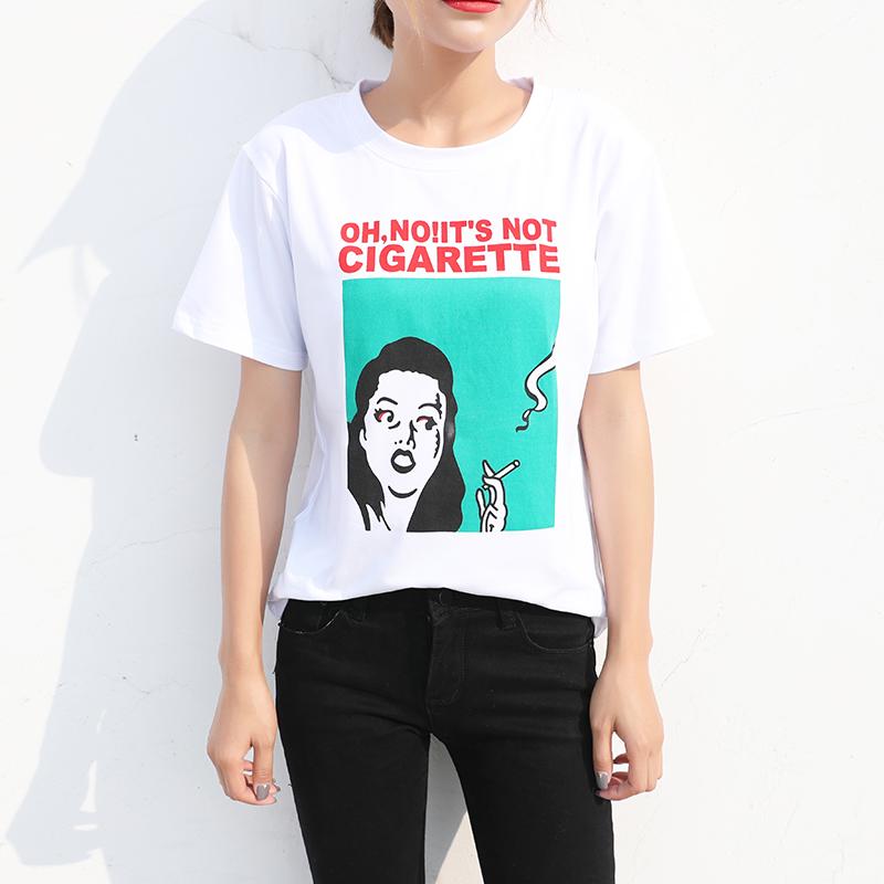HTB1iep2QFXXXXcCXVXXq6xXFXXX4 - New Design 13 Styles Women Casual White T Shirt Female