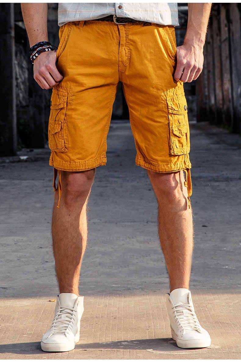 Alta calidad Mwxsd marca hombres casual cargo pantalones cortos de algodón hasta la rodilla hombres militar Bermuda homme Cargo pantalones cortos