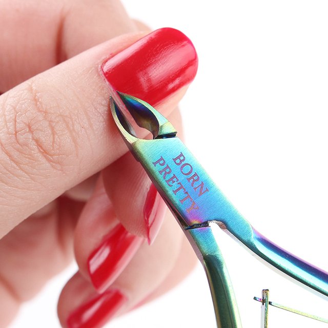 Rainbow Stainless Steel Nail Cuticle Remover Scissors