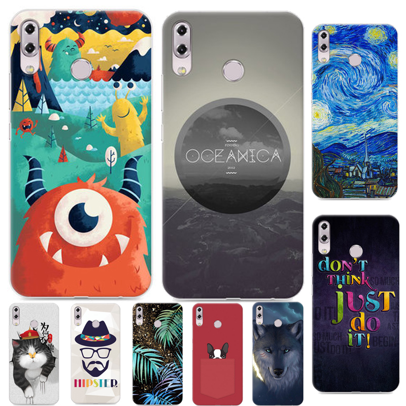 ZS620KL New Cool cartoon Case For Asus ZenFone 5z ZS620KL Pretty interesting Color Printing Case For Asus Zenfone 5z 2018 6.2