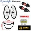 Лидирующий DT Swiss 240 MTB Колесная 29er карбоновое колесо для горного велосипеда, бескамерное готовое XC ободное колесо без крючка 355g только с Sapim С...