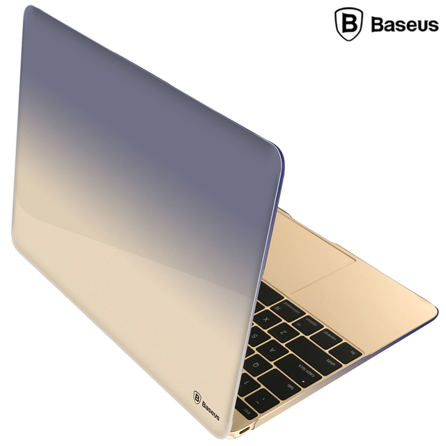 huge discount ca44e ca535 US $30.99 |Baseus 12 Inch Slim Stylish Gradient Protector Case for MacBook  case notebook laptop cases PVC replace cover top selling-in Laptop Bags &  ...