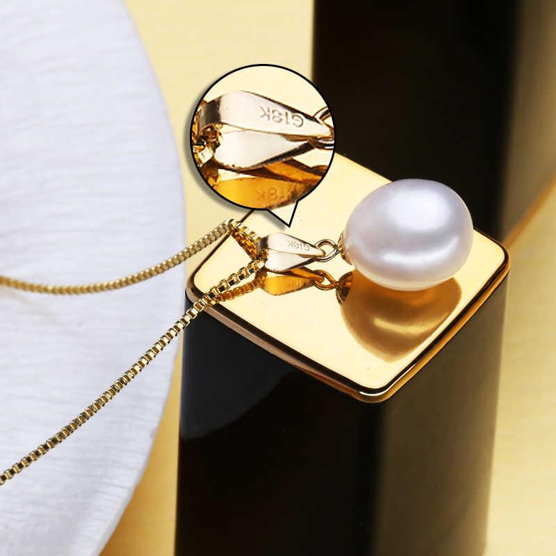 FENASY 18 K Gold peandant pearl เครื่องประดับสร้อยคอและจี้สำหรับคนรักยี่ห้อปาร์ตี้เพิร์ลส่ง s925 สร้อยคอเงิน