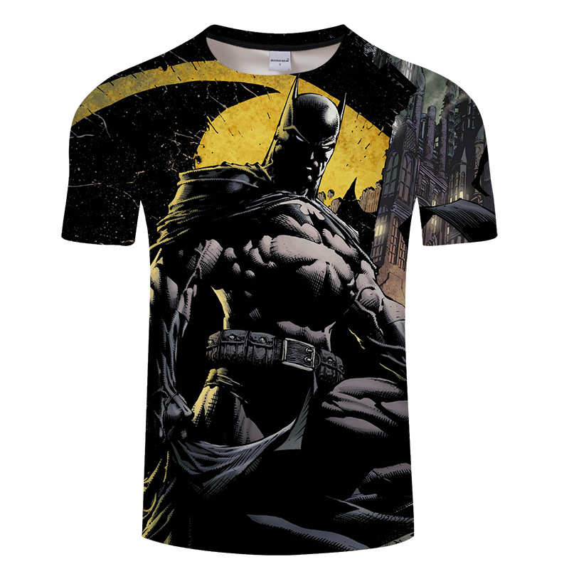 New Fashion Superman Batman 3D   T     Shirt   Summer Style Men Short Sleeve Casual   T  -  shirt   Superhero Top Tees Asian size Tshirt s-6xl