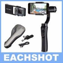 Zhiyun гладкой Q 3 оси ручной карданный Портативный стабилизатор для iPhone 7 6 6S + гладкой костюм пластины для Gopro Hero 5 4 3 4 цвета