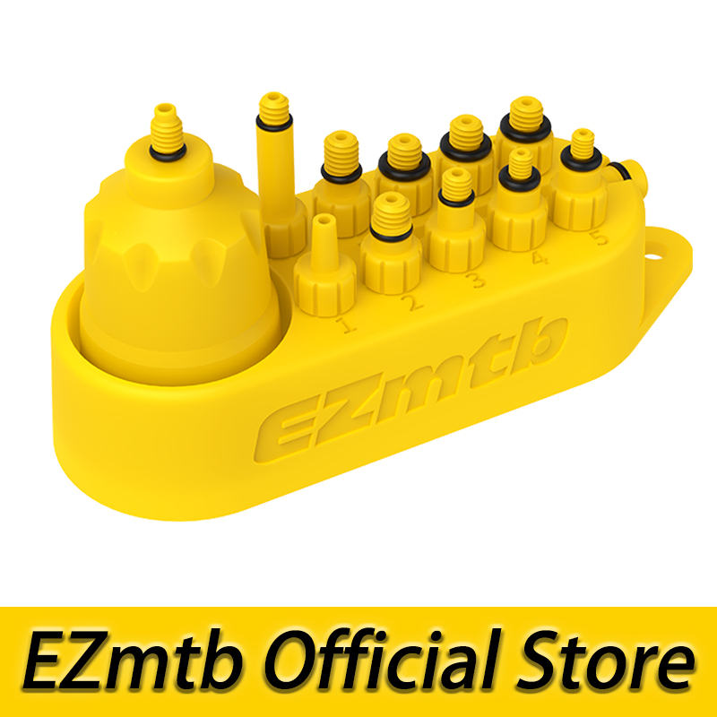 EZMTB Bicycle Universal Hydraulic Bleed Adapters Set(10 In 1) Include Oil Funnel