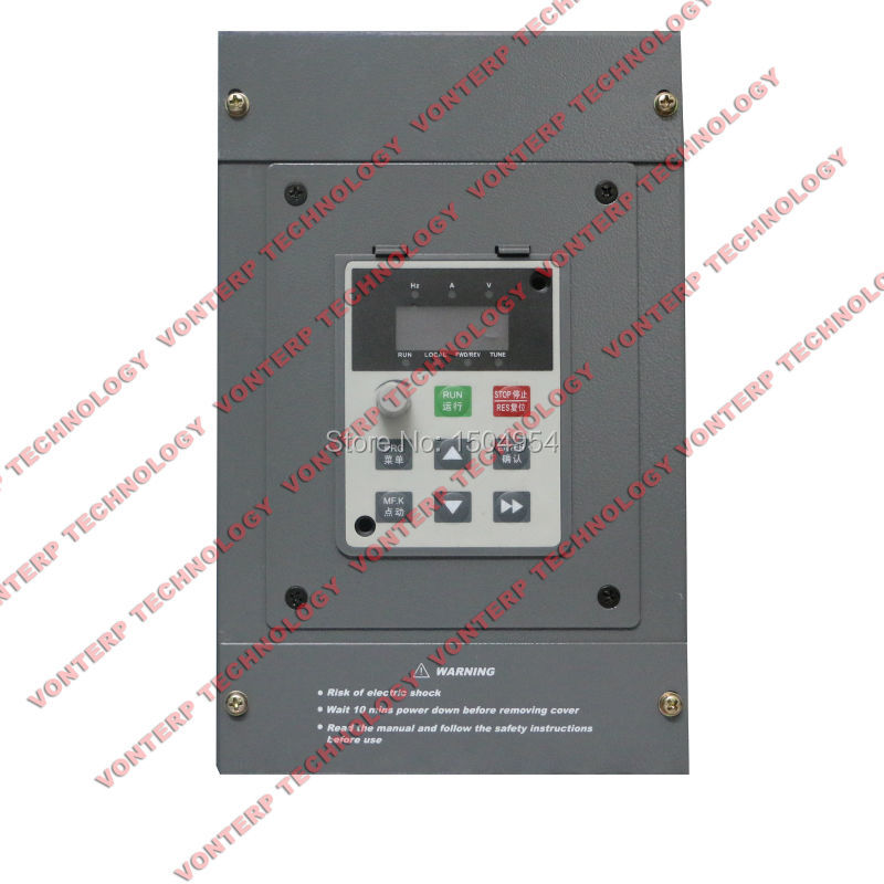 цена на 220v 1.5kw  3  phase input & 3 phase output Vector control variable frequency drive/AC Motor speed controller