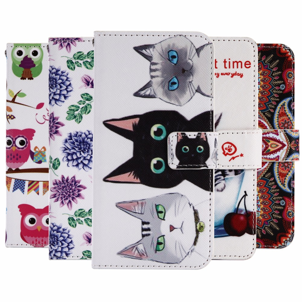 """GUCOON Cartoon Wallet Case for LG G Flex 2 Flex2 5.5"""" Fashion PU Leather Lovely Cool Cover Cellphone Bag Shield"""