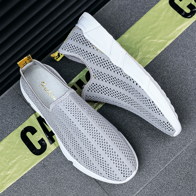 Fires Men Summer Loafers Mesh Breathable Flat Shoes Male Comfortable Lightweight Soft Casual Shoes Black Gray Hombres Zapatillas mvp boy brand 2018 new summer mesh air mesh men breathable loafers black shoes spring lightweight fashion men casual shoes