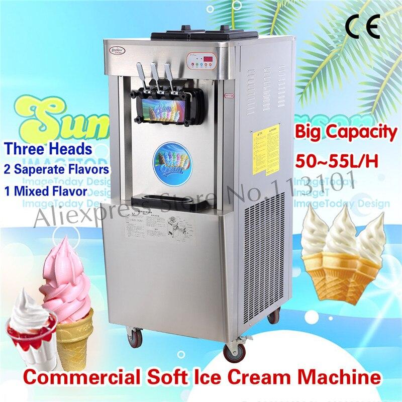 Commercial Ice Cream Making Machine Hight Capacity 52~55 liters/h Equipment for Ice Cream Shops edtid new high quality small commercial ice machine household ice machine tea milk shop