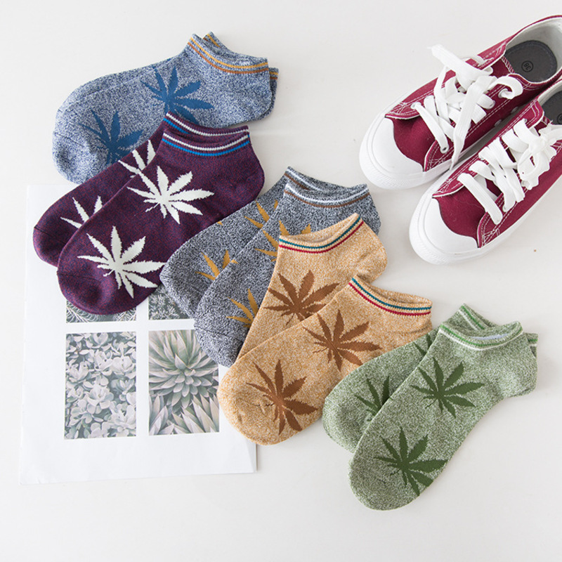 Peonfly Original Old Restore Ancient Ways Maple Leaves Happy Funny Socks men Man Socks Hemp Full Cotton Motion Socks Popsocket