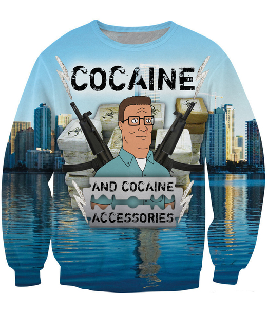 Women Men 3d pull moletons Cocaine and cocaine Accessories Sweatshirt sexy jumper King of the Hill Arlen moleton jumper hoodies