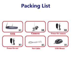 Image 4 - 8CH Wireless NVR Kit Stecker und Spielen 720 P HD Outdoor IR P2P Nachtsicht IP Video Security CCTV Kamera WIFI Überwachung System