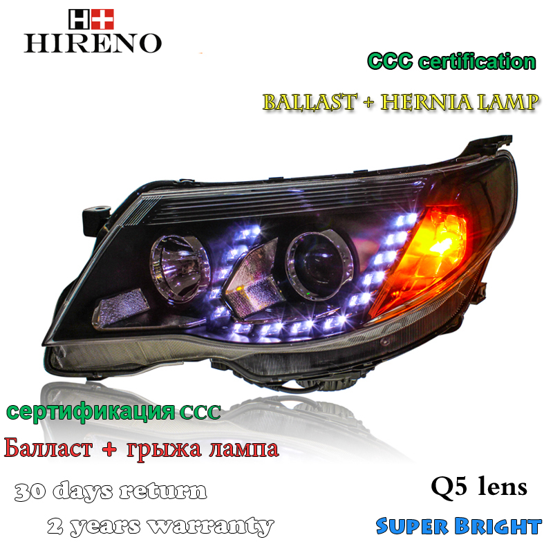 Hireno Headlamp for 2008-2012 Subaru Forester Headlight Assembly LED DRL Angel Lens Double Beam HID Xenon 2pcs hireno modified headlamp for kia cerato 2006 2008 headlight assembly car styling angel lens beam hid xenon 2 pcs