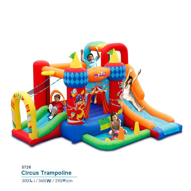 HTB1iequPFXXXXX1XXXXq6xXFXXXV - Mr. Fun Bouncy Castle Inflatable Bounce House Double Slide For Kids with Blower