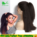 Italian Yaki Full Lace Human Hair Wigs With Baby Hair Kinky Straight Lace Wig Glueless Full Lace Human Hair Wig For Black Women