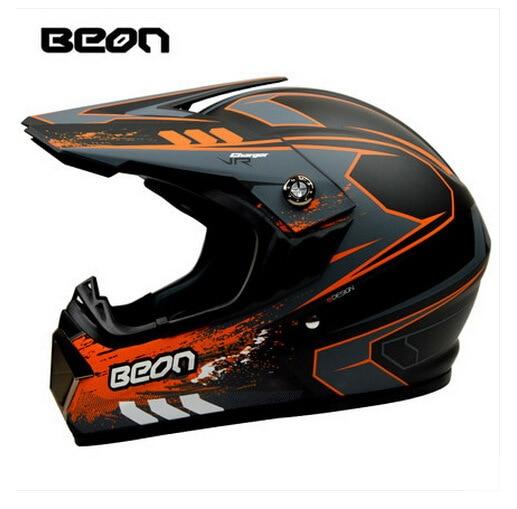 Netherland BEON мотоциклетный шлем для мотокросса высшего качества рыцарь внедорожный мотоциклетный защитный шлем из АБС B-600 Размер M L XL - Цвет: Matte black orange