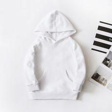 Frühling Kinder Jungen Weiß Sweatshirts Kinder Reine Farbe Hoodies Baumwolle Mädchen Pullover Tops Einzigen Schicht Oberbekleidung Kleidung 1-17 jahre