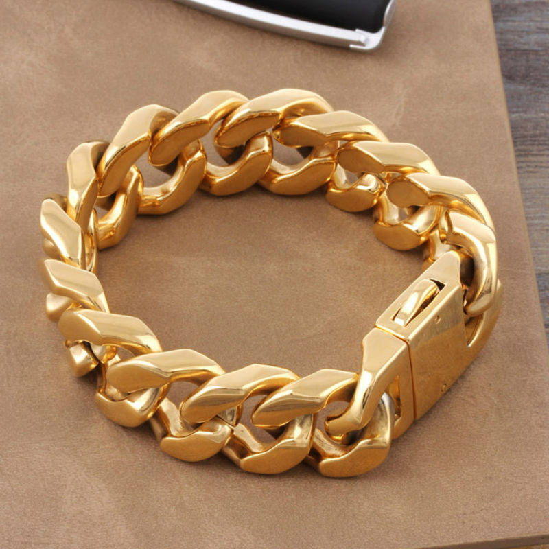 high quality titanium jewelry wholesaler classic gold color big