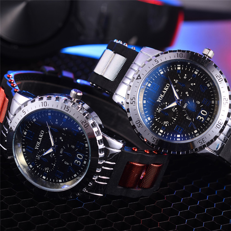 New Brand Gold Mens Watches Top Brand Luxury Wristwatch Mens Gift Quartz Watch Discount #4M03 brand new