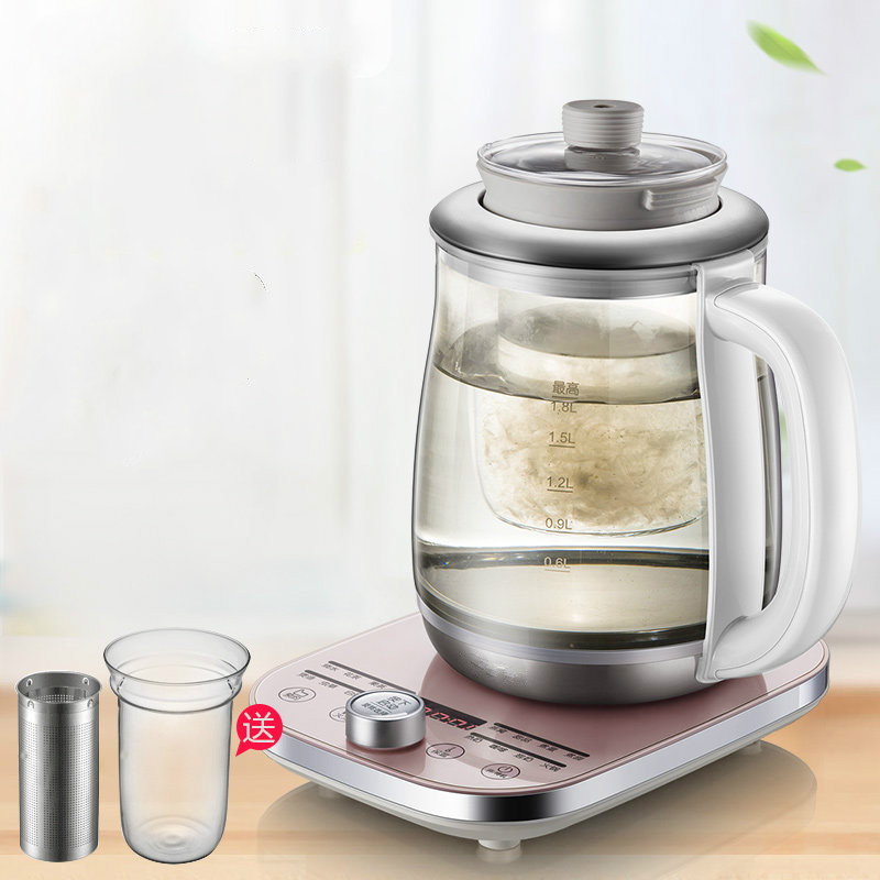 Full automatic home health bottle glass electric kettle office rose teapot boiled tea