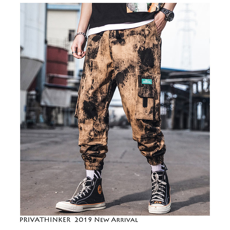 Privathinker Men Ankle-length Pants Hip Hop Cargo Pants Streetwear 2019 Japanese Hip Hop Pants Mens Korean Fashions Joggers
