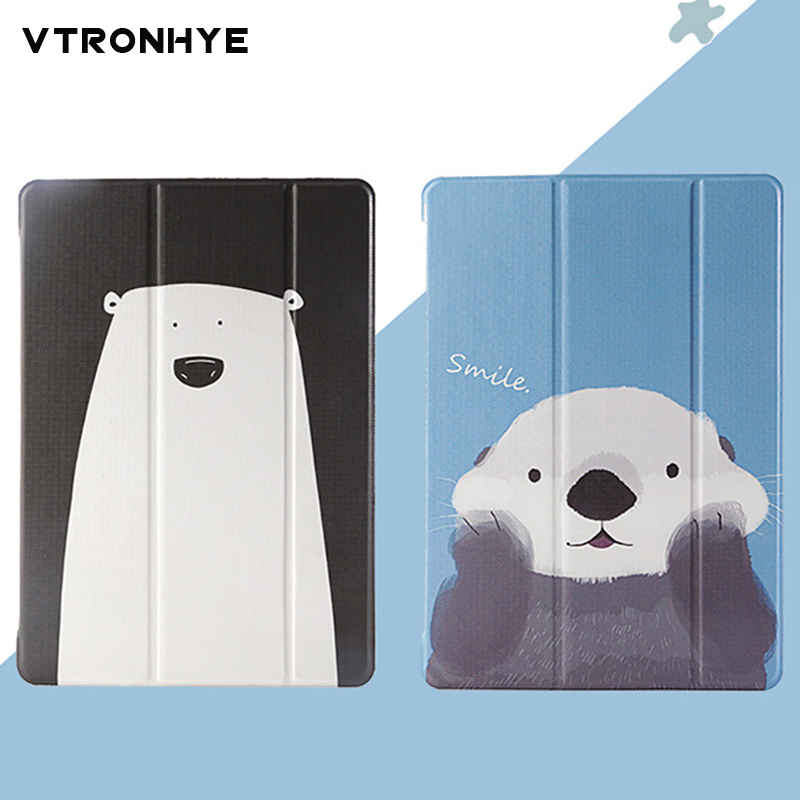 Cartoon Case for iPad mini 1 2 3 mini 4 Magnet Smart Cover Triple Folding Case for iPad air 1/ air 2 for iPad 2017 Auto Sleep