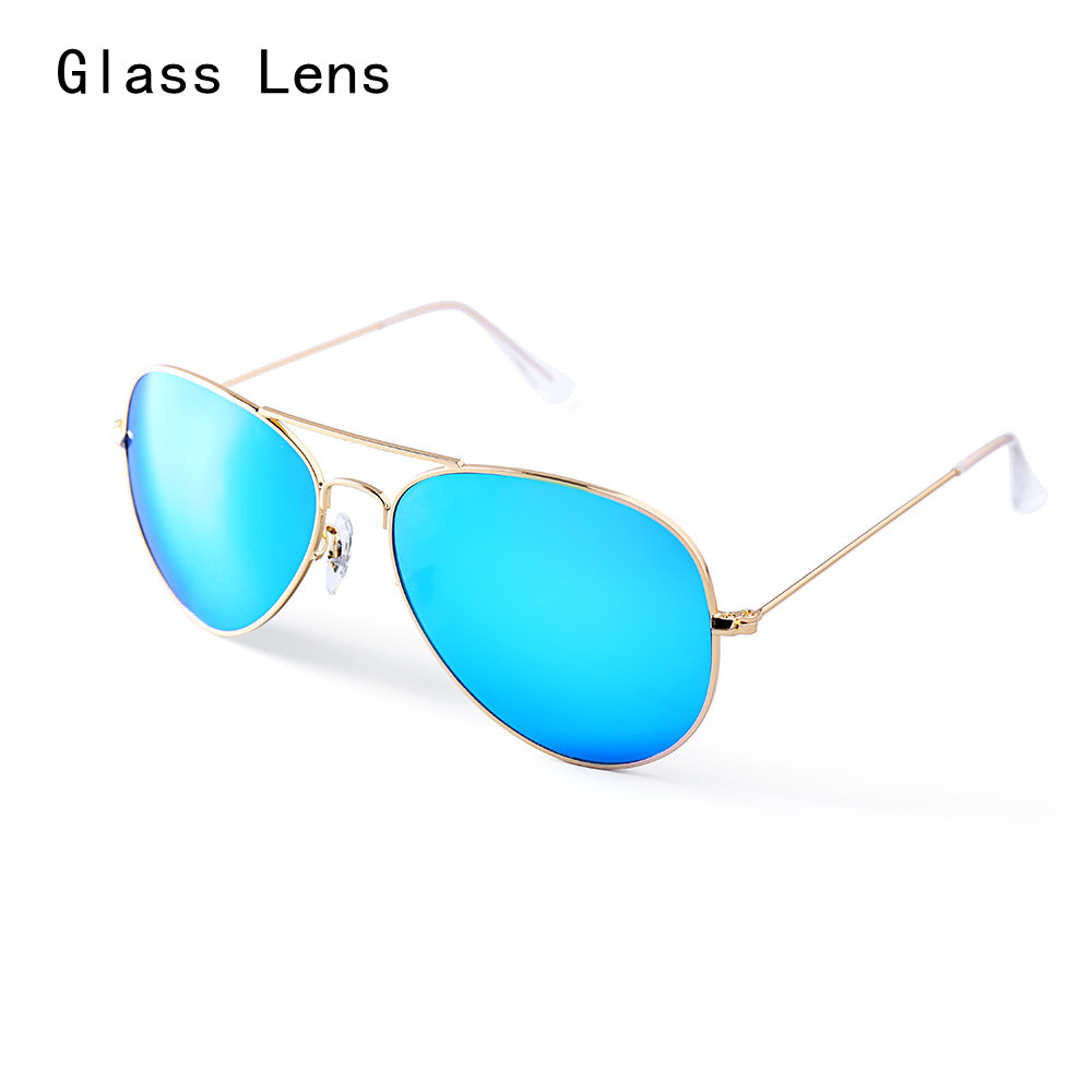 Glass lens fashion men 3026 Rayed Aviation women Sun Glases a variety of colors Lunette Hombre
