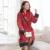 Inverno Camisola do Velo Coral Algodão-acolchoado Mulheres Robes Roupão Elegante Fêmea Acolchoado Pijama Mujer Robe de Espessura Chuveiro Homewear