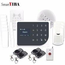 SmartYIBA WIFI GSM Alarmes Touch Key RFID Keypad Panic Alarm Wireless App Alarm Control Door Open