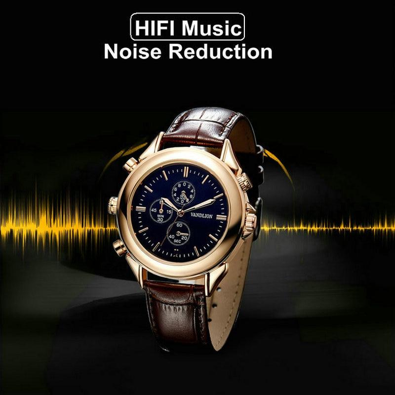 Digital Schwarz Voice Recorder Tragbare Armband Uhr Recorder Audio Aufnahme 8 Gb Mit Atj2127 GroßEr Ausverkauf Digital Voice Recorder