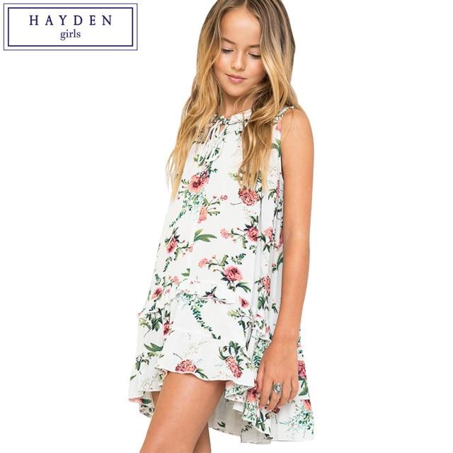e7300247c HAYDEN Girls Summer Floral Dress 2018 New Brand Girl Fashion ...