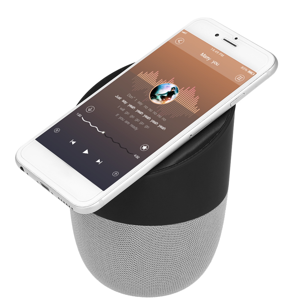 Bluetooth 4.0 Speaker Wireless Portable Charger Power Bank Mini Stereo Sound MIC Hands-free Call Mobile Phone Stand