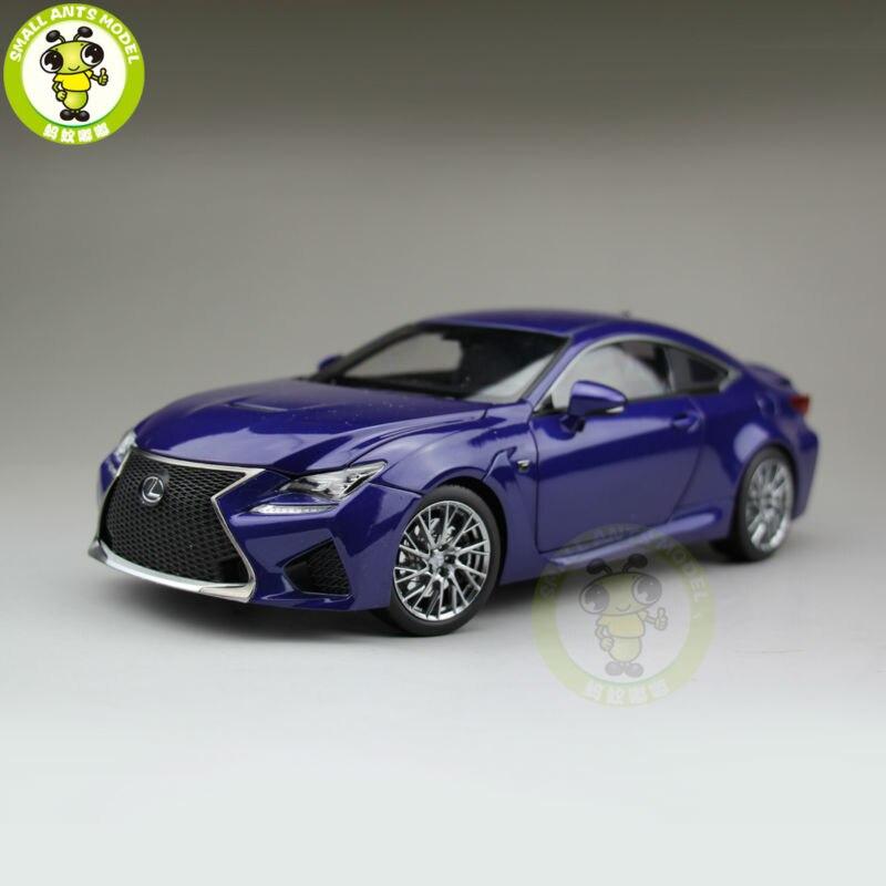 1/18 Toyota Lexus RCF литой модельный автомобиль внедорожник коллекция хобби подарки синий