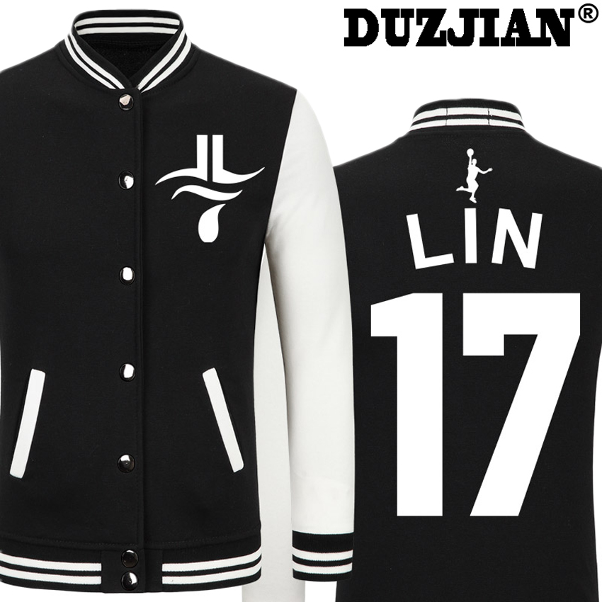 2016 Spring new Nets Jeremy Lin casual jacket cheap men winter jackets male coat boys jacket hip hop youth jackets