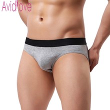Cotton Stretch Hip Brief Sexy Panties Male Underpants