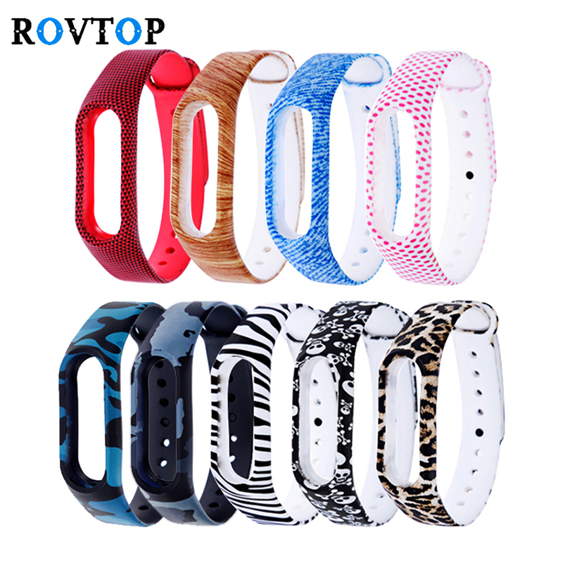 Rovtop Bracelets For Xiaomi Mi Band 2 Smart Watch Bracelet Silicone Wrist Strap For Xiaomi Mi Band 2 Wriststrap Charger Z2(China)
