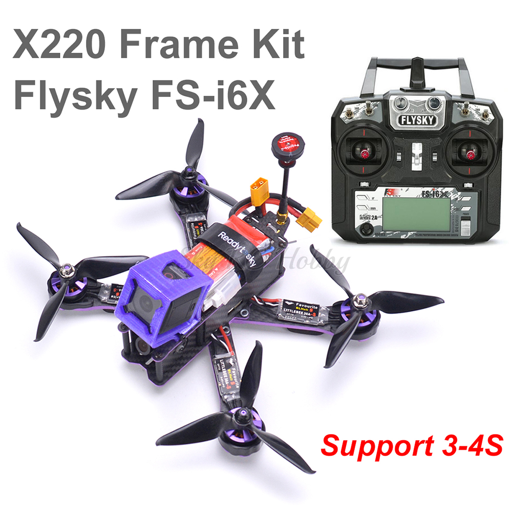 X220 220mm Quadcopter Frame F3 Acro Flight Control Littlebee 30A BLHeli_S ESC 2205 Motor 5065 / Flysky FS-i6X For Wizard X220S
