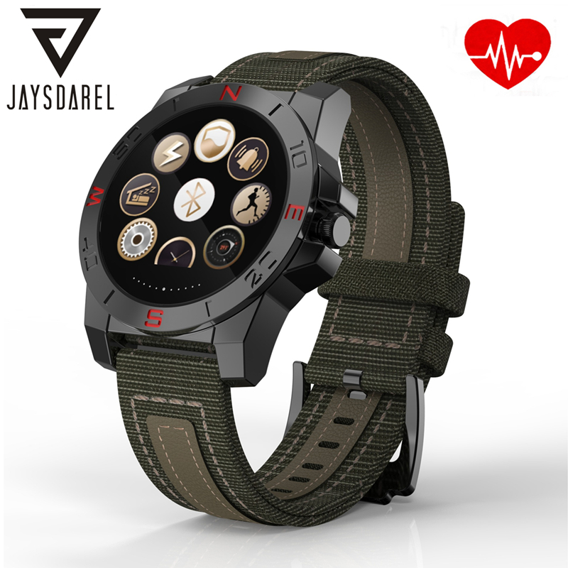 JAYSDAREL Heart Rate Monitor Smart Watch N10B With Compass Smart Bluetooth Wristwatch Sports Fitness Tracker for Android iOS jaysdarel heart rate blood pressure monitor smart watch no 1 gs8 sim card sms call bluetooth smart wristwatch for android ios