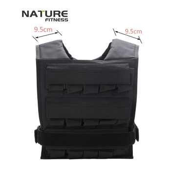 Adjustable Black Color Weight Vest Maximum Can Bear 30KG Exercise Training Vests Training Strength Not Include Weight Plates