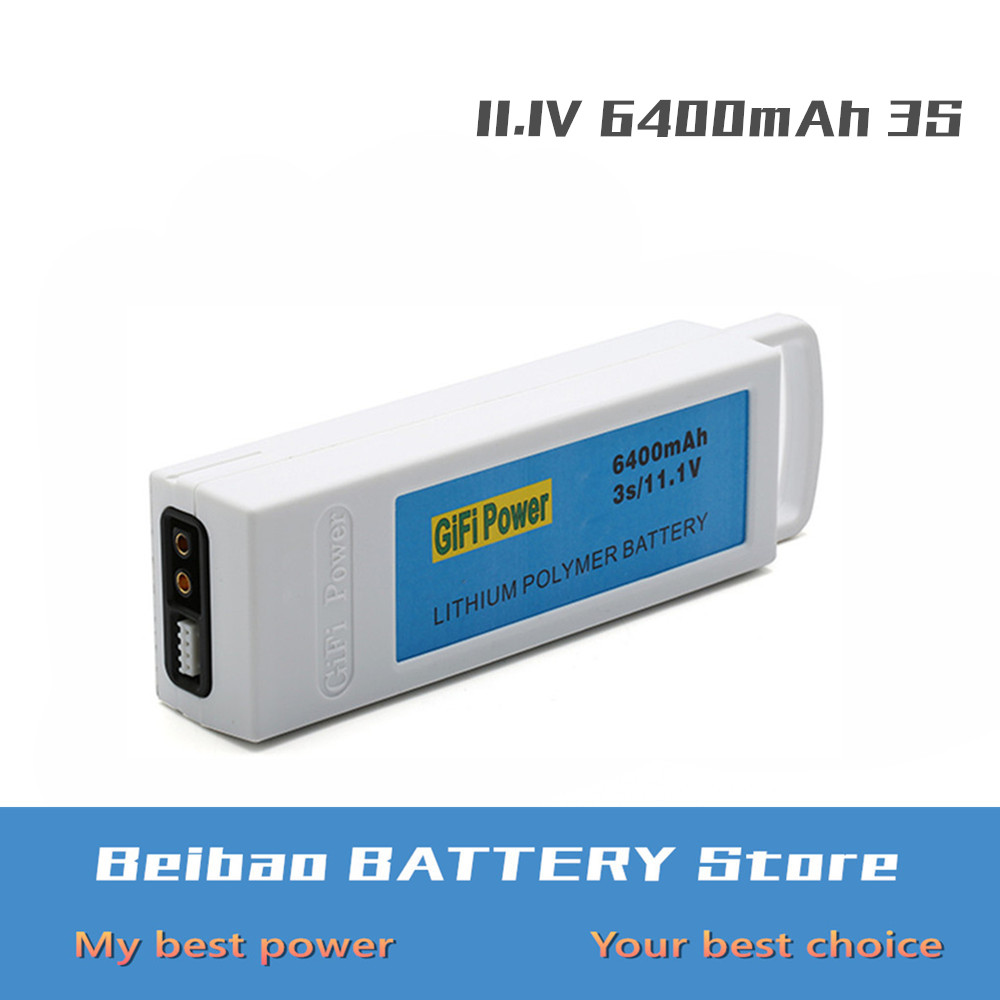 1PCS 11 1V 6400mAh 3S Upgarded Lithium RC Battery Rechargeable Battery For Yuneec Q500 Q500 RC