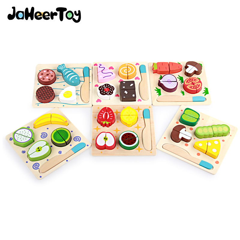 Jaheertoy Kitchen Toys Set Cut Vegetables And Fruits